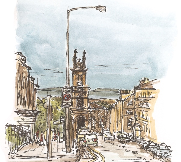 Edinburghsketcher Viewdownhowest