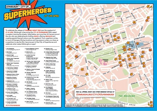 Superheroes Map