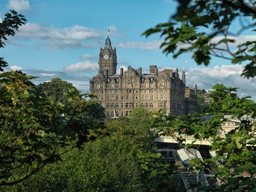 Balmoral Hotel View From Princes Street Gardens
