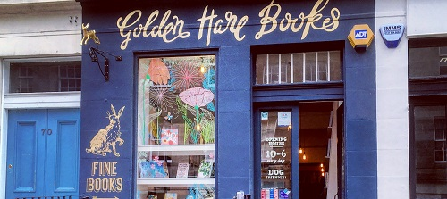 Goldn Hare Book Shop Front Exterior