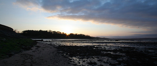 Cramond Beach At Sunset Cc Jenni Douglas