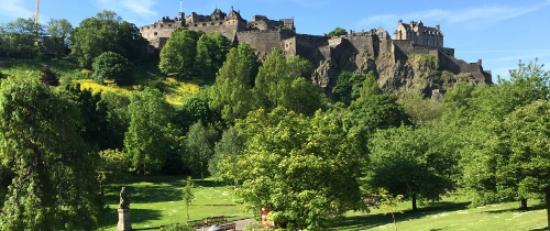 Princes Street Gardens On A Sunny Day