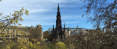 Scott Monument From The Gardens