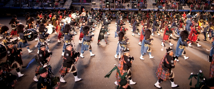 Tatoo Pipers Marching