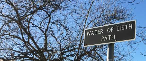 Water Of Leith Path Sign