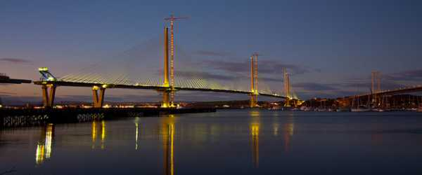 Queensferry Crossing At Dusk