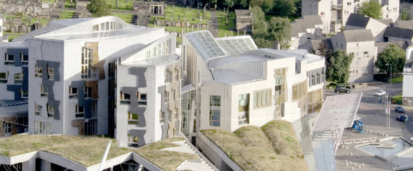 Scottish Parliament Ariel View