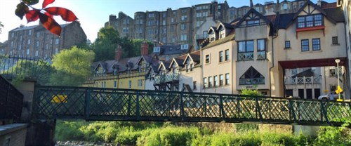 Sunny Dean Village And Water Of Leith
