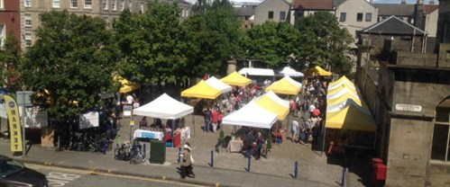 Leith Market From Above